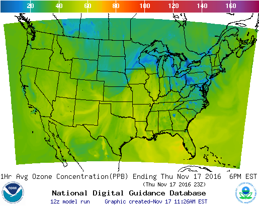 Graphic of Air Quality Forecast Guidance for the CONUS