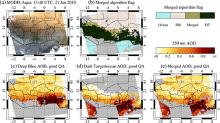 Example of the merging process for a MODIS Aqua granule over the Sahel.