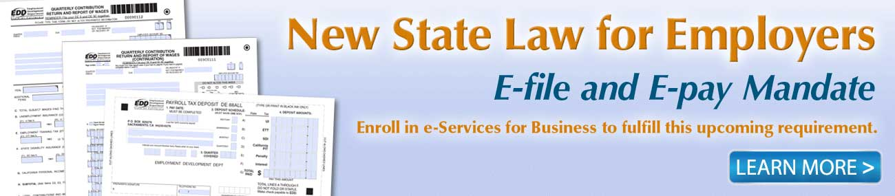 Electronic file and pay requirement
