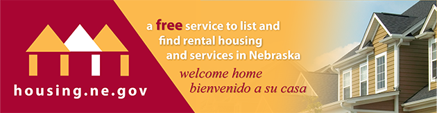 Housing.NE.gov - a free service to list and find rental housing and services in Nebraska.