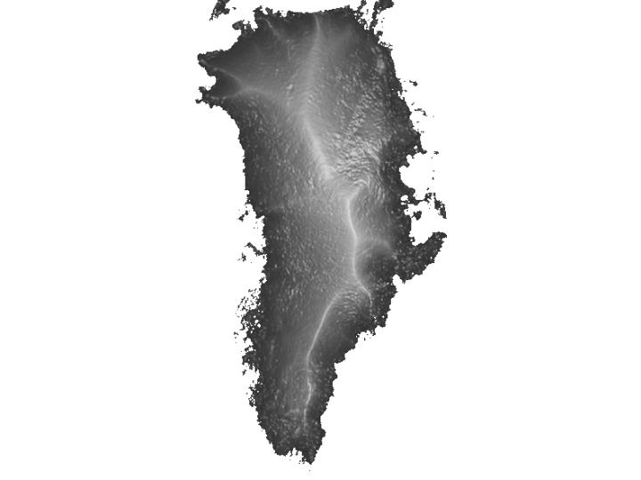 Greenland Surface Elevation Map