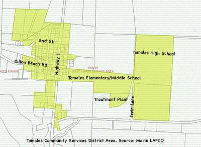 Tomales Community Services District Service Area