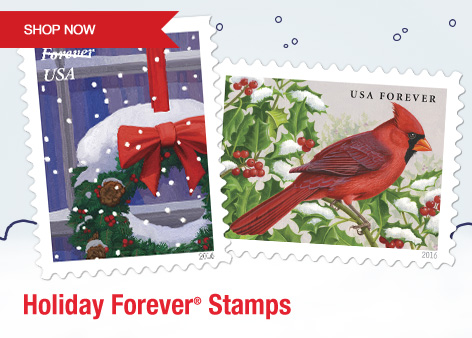 Holiday Forever Stamps. Shop Now