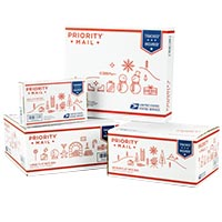Holiday Priority Mail Flat Rate Boxes Variety Pack
