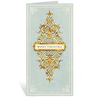 Merry Christmas on Light Green Holiday Cards