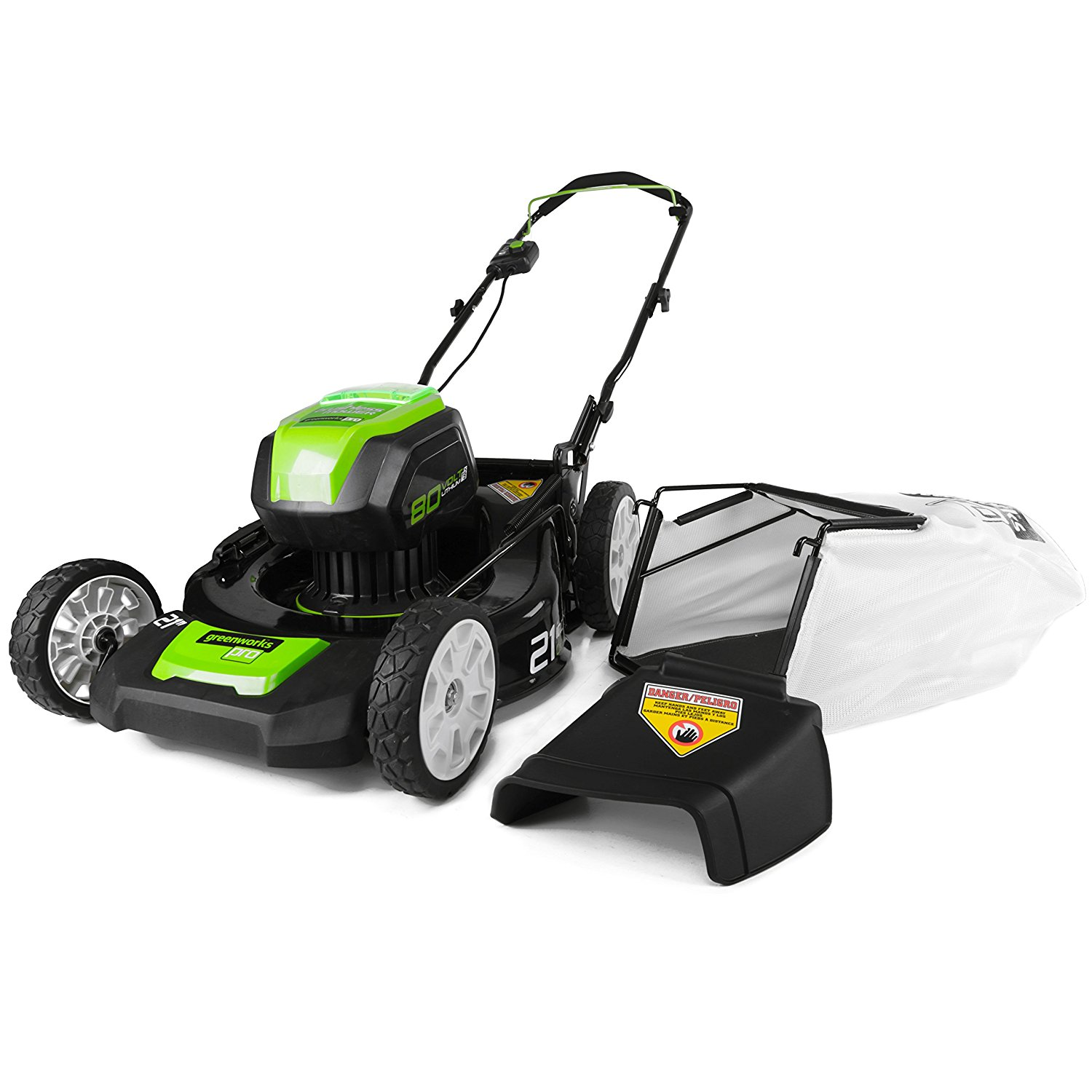 GreenWorks GLM801600 80V 21-Inch Cordless Lawn Mower, Battery and Charger Not Included