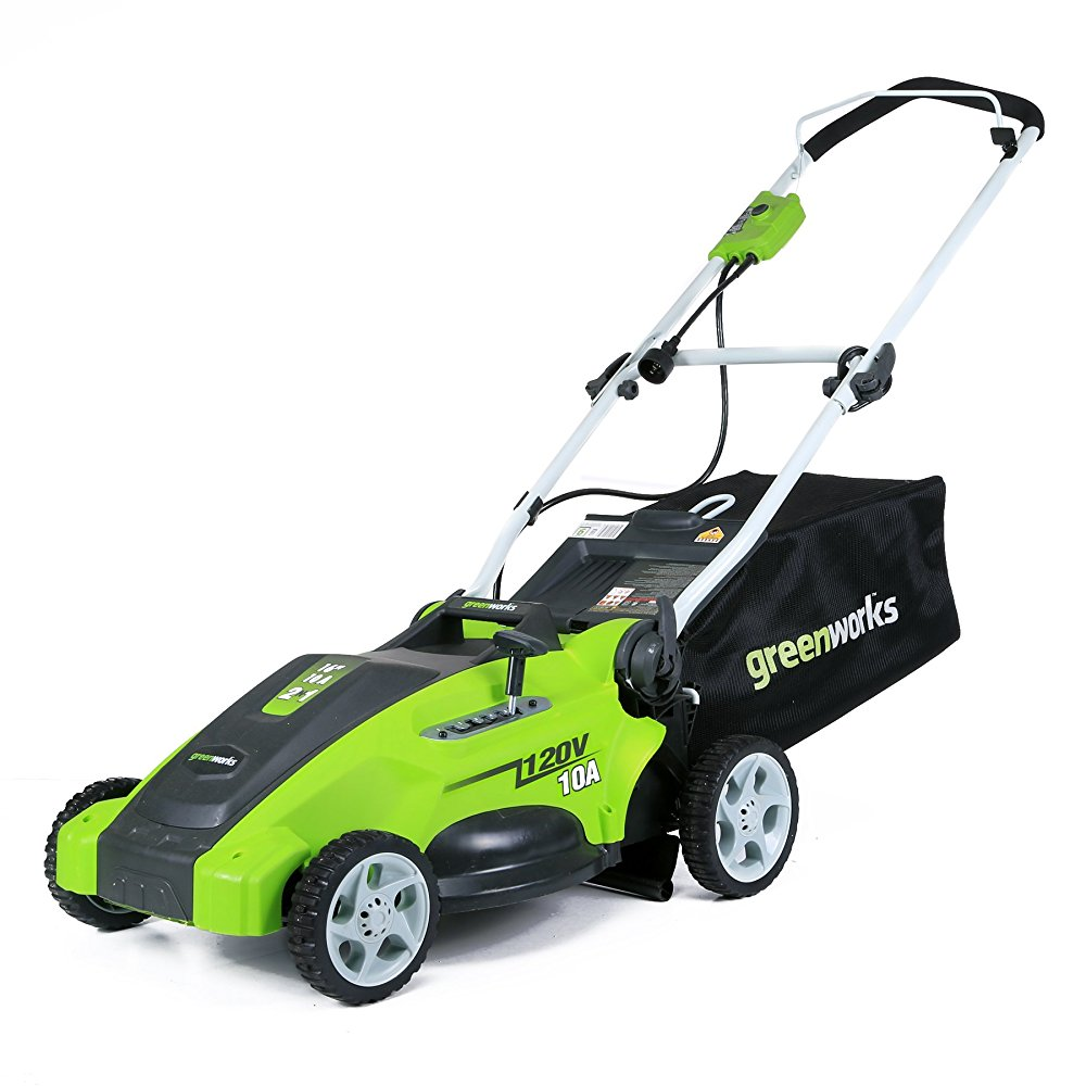 GreenWorks 25142 10 Amp Corded 16-Inch Lawn Mower