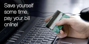 Save yourself some time, pay your bill online!