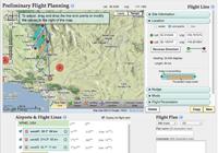 Screenshot of student flight planning website