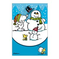 Peanuts Snoopy with Snowman Purse Note