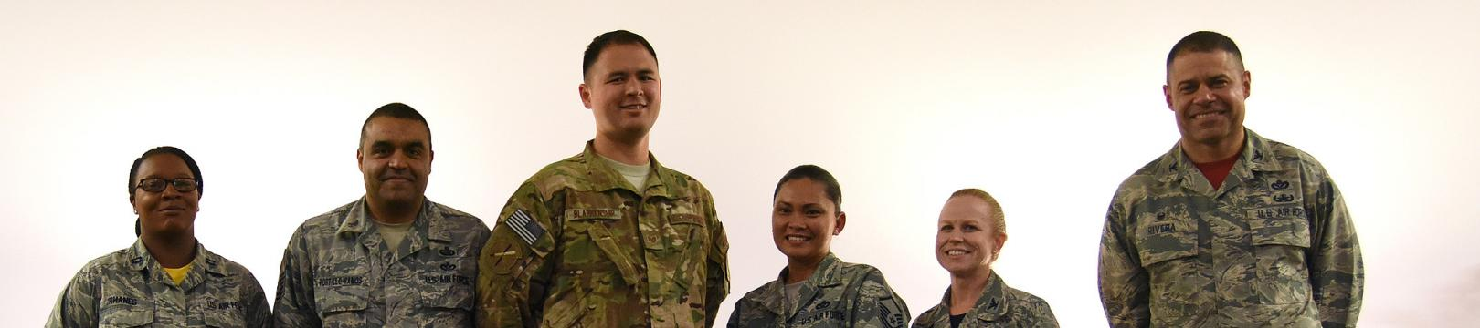 Military Personnel Standing Together