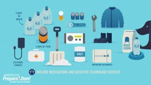 Include medications and assistive technology devices. America's Prepareathon. Be Smart. Take Part. Prepare.This graphic image is part of the Winter Weather Safety Graphics collection.
