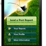 Screen of Report a Pest App