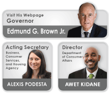 Governor and Executive Staff