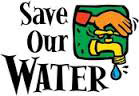 save our water logo and link