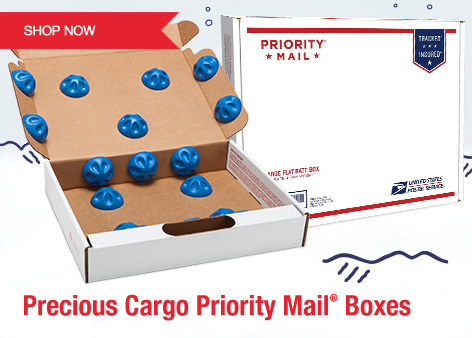 Precious Cargo Priority Mail Boxes. Shop Now.