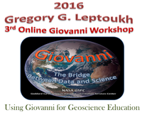 """The theme of this year's workshop is """"Using Giovanni for Geoscience Education"""""""