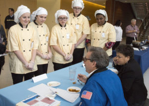 Students from New Horizon School compete in the HUNCH Space recipes.