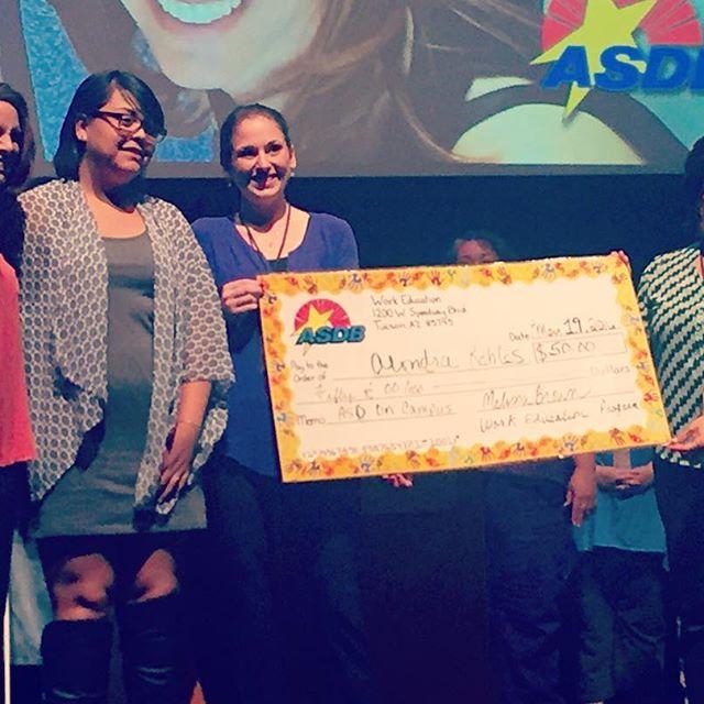 Arizona School for the Deaf 2016 senior award for ASDB work education program.