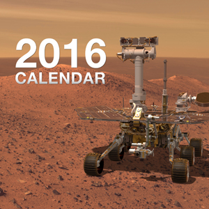 Mars Exploration Rovers Calendar for 2015 - 2016