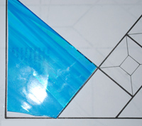 Broken Stained Glass Pattern Piece