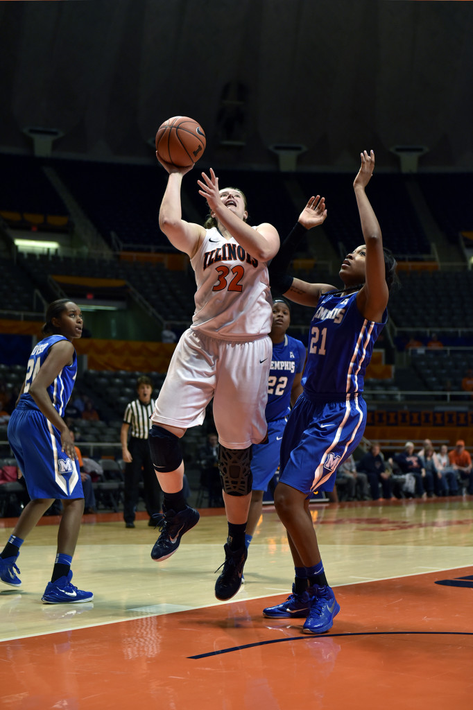 Chatrice White scored a game-high 23 points in the victory over No. 9 Kentucky (courtesy University of Illinois).