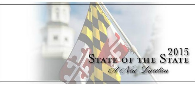 Maryland Flag for State of the State Address
