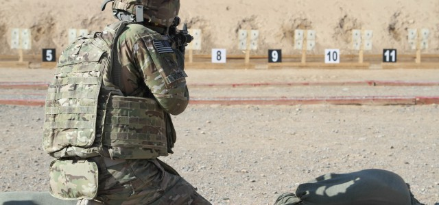 Sgt. Ron Mohone, a reservist with the 207th Regional Support Group, who is currently the garrison chaplain assistant NCOIC at Kandahar Airfield, Afghanistan, fires his rifle at a paper target […]