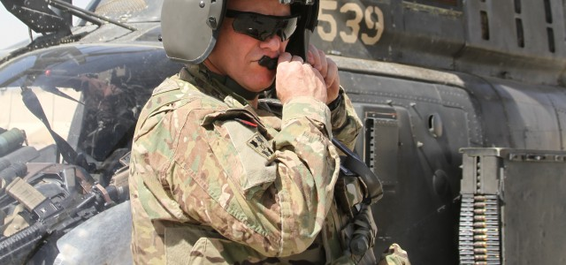 Major General Paul J. LaCamera, 4th Infantry Division and Regional Command (South) commanding general, prepares to fly in an OH-58D Kiowa Warrior helicopter at Kandahar Airfield, Afghanistan during his visit […]