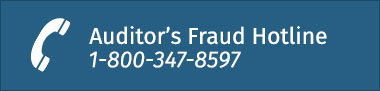 Auditor's Fraud Hotline