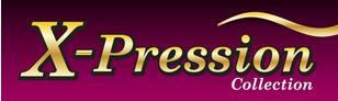 Das Bild zeigt das Logo von X-Pression. Den Hersteller von Haaren und Haarteilen aus Afrika.