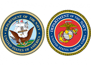 Department of Navy and Marine Corps seals