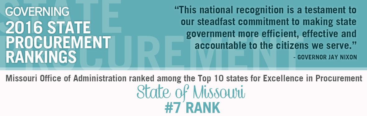 Missouri Office of Administration ranked among the Top 10 states for Excellence in Procurement