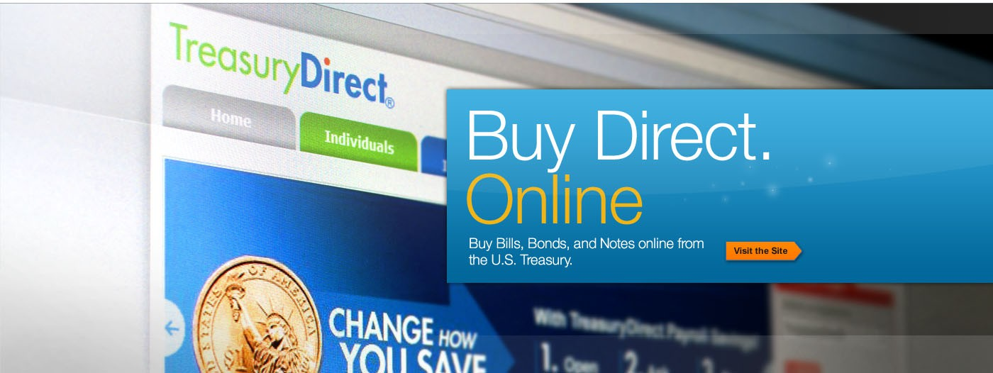 Display of TreasuryDirect with Buy Direct Online banner