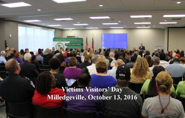 Victims of crime gather in Milledgeville, Georgia to meet with Parole