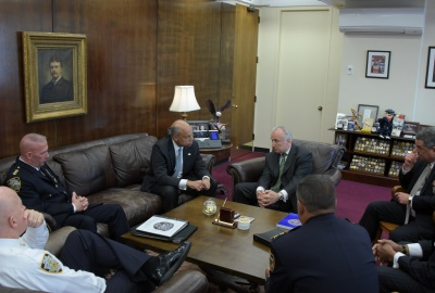 Secretary Johnson met with NYPD Commissioner William Bratton and top NYPD leadership to discuss ongoing counterterrorism efforts