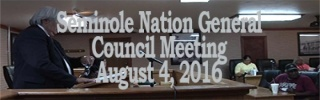 General Council Meeting August 4, 2016
