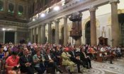 DCM Alvarado gives remarks at Santa Maria in Trastevere on Sept. 11