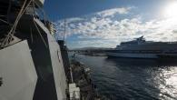 USS Carney Departs Piraeus, Greece