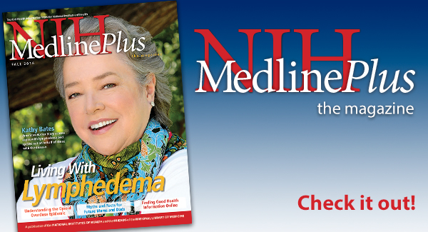 Fall 2016 MedlinePlus Magazine Cover with Actress Kathy Bates