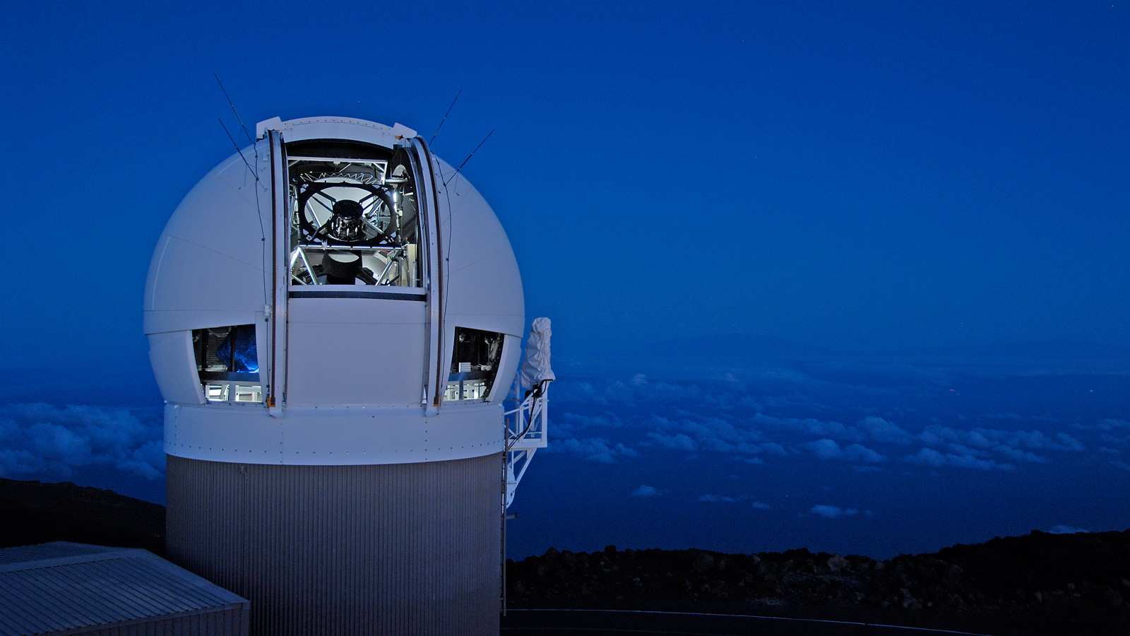The Panoramic Survey Telescope & Rapid Response System (Pan-STARRS) 1 telescope on Maui's Mount Haleakala, Hawaii