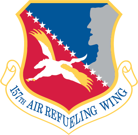 Offiical heraldry of the 157th Air Refueling Wing