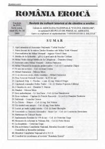 Romania Eroica nr. 10 2000 sumar