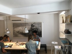 Inside seating space, Copenhagen Coffee Lab, Lisbon