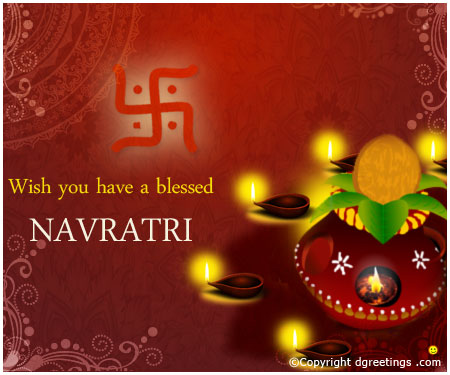 Happy Navratri Wishes Card