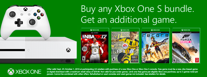 Xbox One Buy 1 Get 1