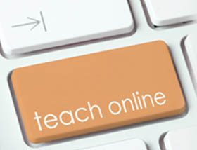 teach online button