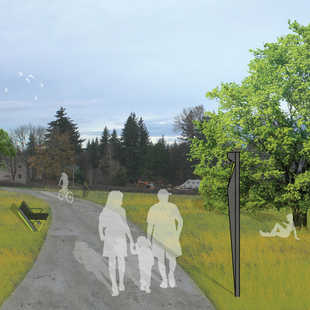 concept drawing for the Troutdale to Springwater Trail