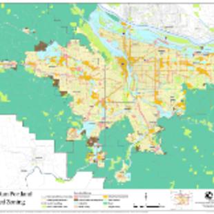 Generalized zoning classifications map: Regional