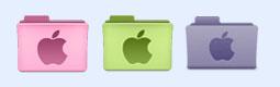 苹果标志文件夹图标图标下载